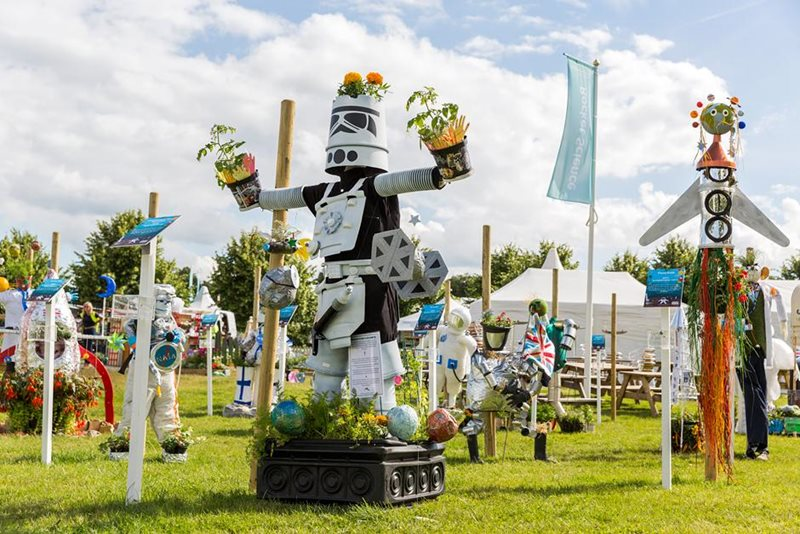 Scarecrows at Hampton Court Show 2016