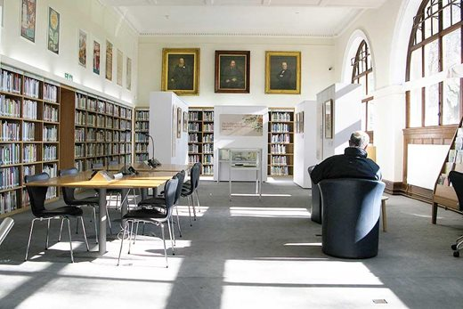 Upper Reading Room at the Lindley Library