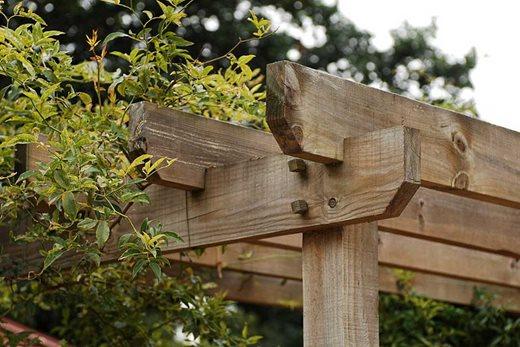 wooden pergola