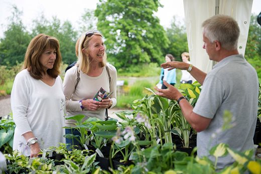 Visitors buying plants at the Harlow Carr Flower Show