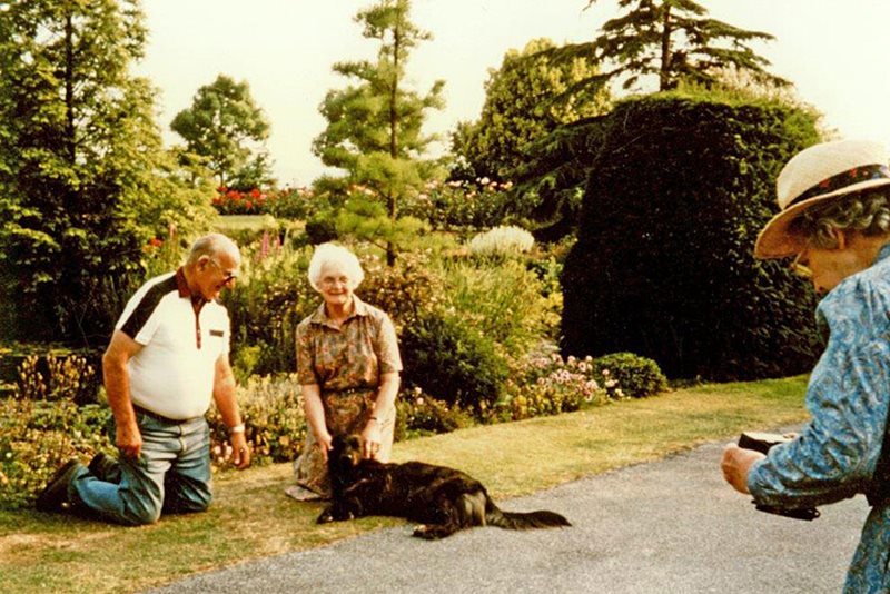 Helen & Dick Robinson with their beloved dog Brodie.