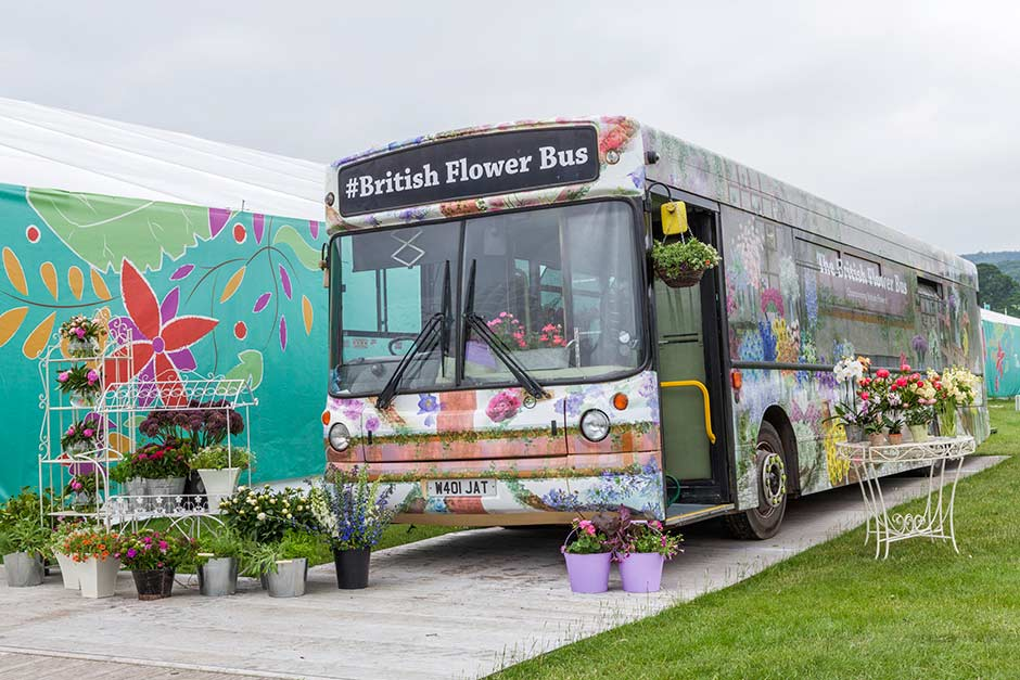 British Flower Bus