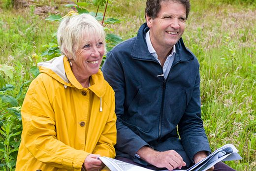 Carol with Tom Stuart-Smith who is drawing up the garden masterplan