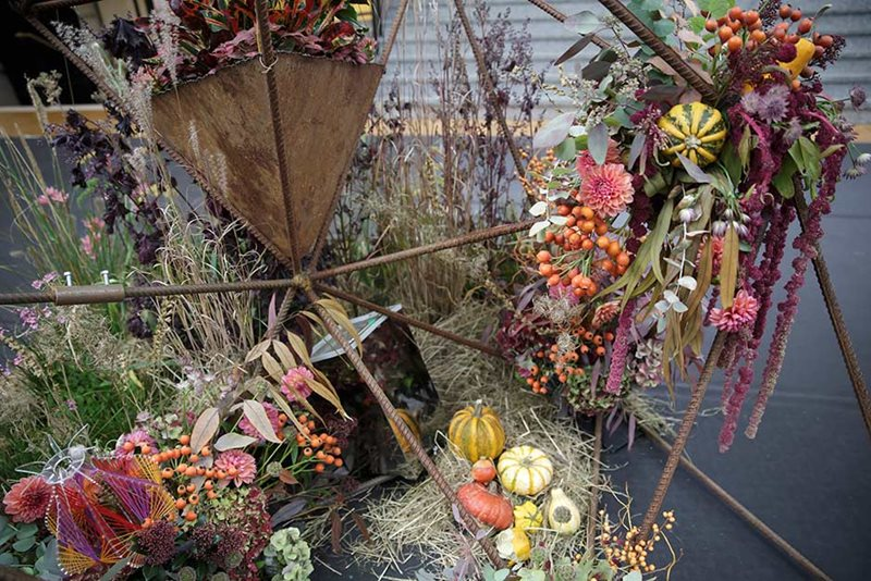 an autumn floral display at the show